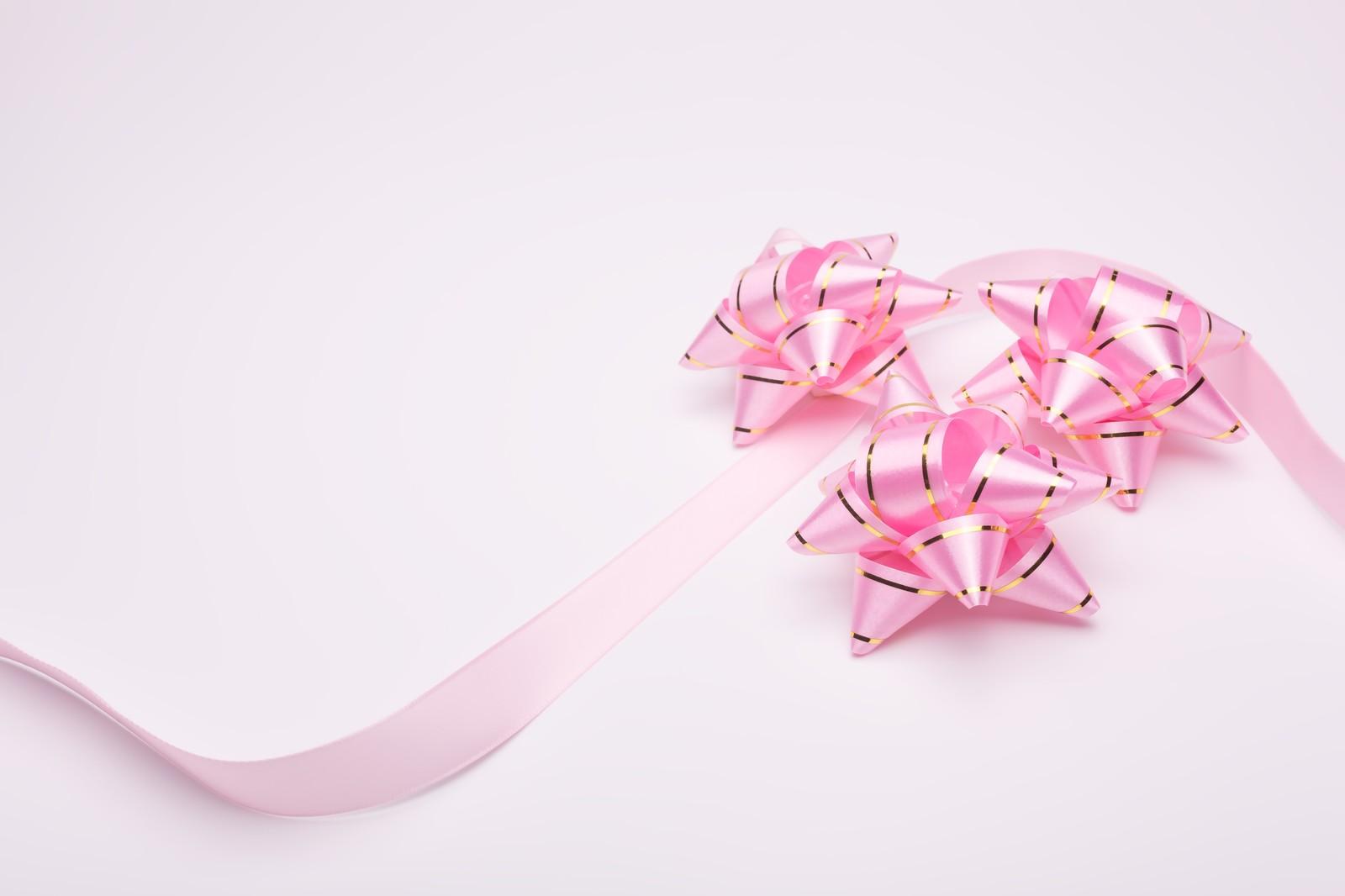 ピンクのリボンfromぱくたそ